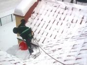 Odśnieżanie dachów, zbijanie nawisów lodowych / Wołomin, Radzymin